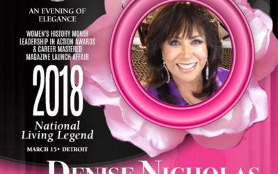 Legendary Actress, Author, Activist Denise Nicholas Named Career Mastered National Living Legend